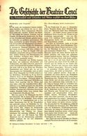 Die Geschichte Der Beatrice Cenci / Artikel, Entnommen Aus Zeitschrift /1938 - Books, Magazines, Comics