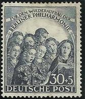 Allemagne BERLIN 1950 N° 59 Neuf Avec Charnière (légère Tâche De Rousseur Au Dos) - Ongebruikt