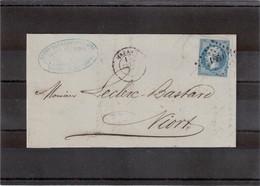 CP28 - Lettre De Marans Petits Chiffres 1860 Du 14 SEPT 62 - à Destination De Niort - 1862 Napoléon III