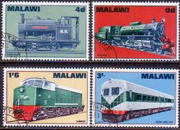 MALAWI 1968 SG #300-03 Compl.set Used Locomotives - Malawi (1964-...)