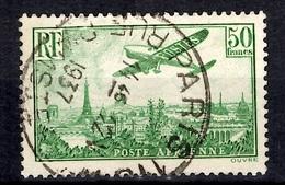France Poste Aérienne YT N° 14 Oblitéré. B/TB. A Saisir! - 1927-1959 Oblitérés