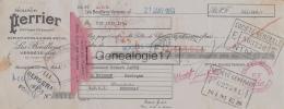 30 565 VERGEZE LES BOUILLENS GARD 1954 SOURCE PERRIER Eau Gazeuse à ROBERT JANTE De LE BUISSON - Lettres De Change