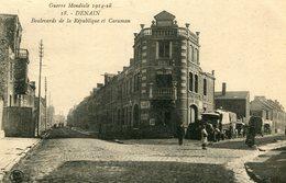 DENAIN - BOULEVARDS De La REPUBLIQUE Et CARAMAN - - War 1914-18