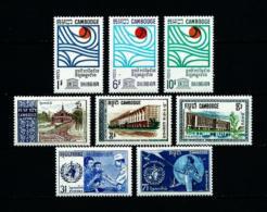 Camboya  Nº Yvert  200/2-203/5-206/7  En Nuevo - Cambodia