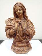 Modelo De Taller. Antigua Escultura De La Virgen María Rezando. Marca: Escultura Religiosa OLOT. - Religión & Esoterismo
