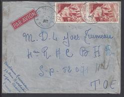 FR - 1948 - Affr. Paire N° 792 Sur Enveloppe De Lyon Pour Le 4ème R.A.C. Secteur Postal 52071 - T.O.E - Indochine - B/TB - Marcophilie (Lettres)