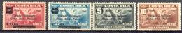 Costa Rica - 1941 - Yt PA 50/53 -  Traité Territorial Avec Le Panama - - * Charnières - Costa Rica