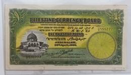 ONE PALESTINE POUND,1939,ISRAEL BANK,USAGE/CIRCULATED, - Israel