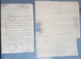 Lebanon Scarce 1924 Documents Signed By LtCol Bucheton HAUT COMISSARIAT DE LA REPUBLIQUE FRANCAISE Syrie SURETE GENERALE - Historische Documenten