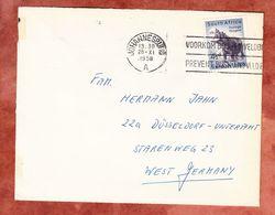 Brief, EF Flusspferd, Johannesburg Nach Duesseldorf 1958 (51476) - Storia Postale