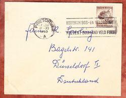 Brief, EF Gepard, Pretoria Nach Duesseldorf 1960 (51478) - Storia Postale