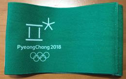 Bandeau Vert Pyeong Chang Olympic Games 2018. Etat Neuf - Olympics