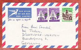 Luftpost, Vorderseite, MiF Gebaeude U.a., Cape Town Kaapstad Nach Duesseldorf 1960 (51480) - Storia Postale