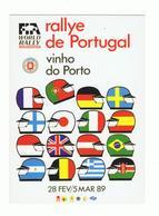 POSTCARD»RALLYE DE PORTUGAL, VINHO DO PORTO»RALLY WORLD CHAMPIONSHIP»PORTUGAL»1989»NM CONDITION - Rallyes