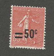 FRANCE - N°YT 221 NEUF** SANS CHARNIERE - COTE YT : 7€ - 1926/27 - 1903-60 Semeuse Lignée