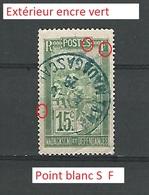 1922 MADAGASCAR ET DEPENDANCE 15C OBLIT  SANS GOMME - Madagaskar (1889-1960)