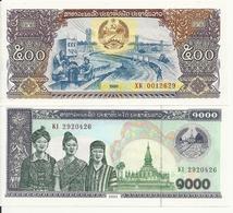 LAOS 500-1000 KIP 1988-2003 UNC P 31-32a B ( 2 Billets ) - Laos