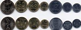 Ukraine - 1 2 5 10 25 50 Kopecks 1 Hryvna 2012 - 2016 UNC Set 7 Coins Ukr-OP - Oekraïne