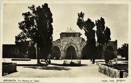 Israel Palestine, JERUSALEM, The Mosque Of Aksa (1930s) Eliahu RPPC Postcard - Israel