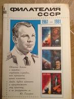 1981 Russia Philately Magazine Gagarin Space - Slav Languages
