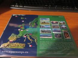 ENCART LUXE SERIE DES TIMBRES SEPAC PETITS ETATS EUROPEENS 2009 - Autres - Europe