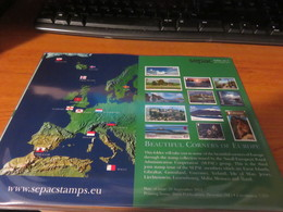 ENCART LUXE SERIE DES TIMBRES SEPAC PETITS ETATS EUROPEENS 2009 - Europe (Other)