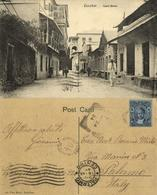 Tanzania, ZANZIBAR, Court Street (1924) Postcard, Stamp - Tansania