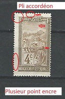 1908  N° 96  MADAGASCAR ET DEPENDANCE 4C NEUF ** GOMME - Unused Stamps