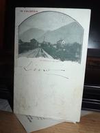 CARTOLINA IN VALSESIA SCOPELLO ENTRATA PAESE PANORAMA VEDUTA 1900 FORMATO PICCOLO - Italia