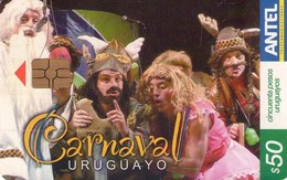 TARJETA TELEFONICA DE URUGUAY, 484a (160) CARNAVAL URUGUAYO. - Uruguay