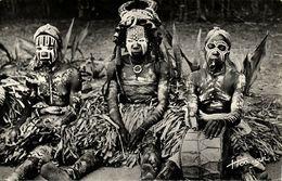 Ivory Coast, GUIGLO, Painted Native Dancers, Nude Women (1950s) RPPC Postcard - Ivory Coast