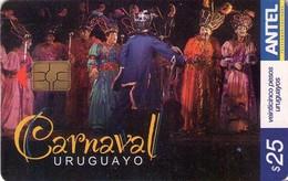 TARJETA TELEFONICA DE URUGUAY, 483a (162) CARNAVAL URUGUAYO. - Uruguay