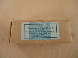 Boîte En Carton Pour 16 Cartouches Neutralisées Cal 9mm Allemande WWII - Equipment