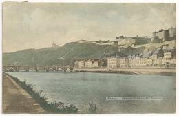 NAMUR 1900's AVRIL 10 Timbres 1c, Vue Sur Le Pont Et La Citadelle, GALERIES Place D'Armes Namur - CPA - Namur