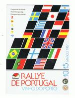 POSTCARD»RALLYE DE PORTUGAL, VINHO DO PORTO»RALLY WORLD CHAMPIONSHIP»PORTUGAL»1987»NM CONDITION - Rallyes