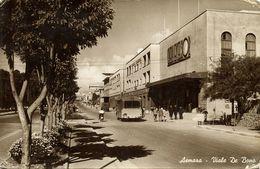 Eritrea, ASMARA, Viale De Bono, Bus (1930s) RPPC Postcard - Eritrea