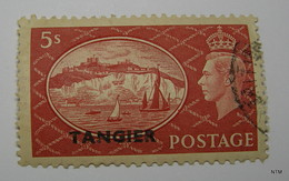 MOROCCO TANGIER ZONE 1951. King George VI. Pictorial Stamp 5s. (Red). Ovptd. TANGIER. SG 287. Fine Used. - Oficinas En  Marruecos / Tanger : (...-1958
