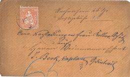 NN Briefvs  Schötz - Grossdietwil            1881 - 1862-1881 Helvetia Assise (dentelés)