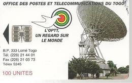 CARTE PUCE-TOGO-SC7-100U-OPTT REGARD SUR LE MONDE/ANTENNE--TBE-RARE - Togo