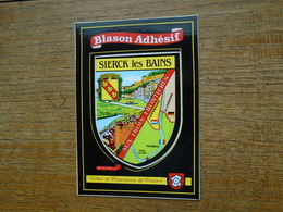 "Sierck Les Bains , Carte Blason De Sierck Les Bains """" Blason Adhésif """" - France"