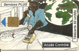 CARTE PUCE-BENIN-50U-GEM B-10/96-SERVICES PLUS-UTILISE-BE - Benin