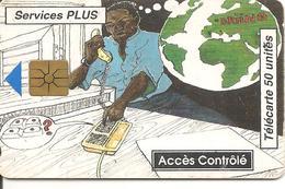 CARTE PUCE-BENIN-50U-GEM A-10/96-SERVICES PLUS-UTILISE-BE - Benin