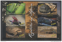 LIBERIA ,2016, MNH, REPTILES, TORTOISES, SNAKES, CROCODILES, LIZARDS, SHEETLET , PT. II - Turtles