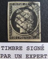 R1749/86 - CERES N°3 ☛☛☛ Signé BRUN Expert - GRILLE NOIRE - Cote : 65,00 € - 1849-1850 Ceres