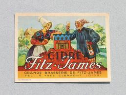Ancienne Étiquette Bière Brasserie Fitz-James, Clermont (Beer Label Bieretiketten) - Beer