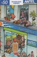 TARJETA TELEFONICA DE URUGUAY, 456a (166) PUZZLE - REVERSO REGULAR. - Uruguay