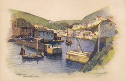 Postcard Polperro General View Artwork By Anne Croft [ Vivian Mansell Series ]  My Ref  B12212 - Inghilterra