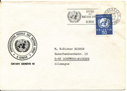Switzerland UN Geneve Cover Sent To Germany Geneve 27-3-1968 Single Stamped - Office De Genève