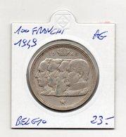 Belgio - 1949 - 100 Franchi - Argento - (FDC9751) - 06. 100 Franchi