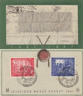 GOOD GERMANY MAXICARD 1947 - LEIPZIG EXHIBITION - American,British And Russian Zone